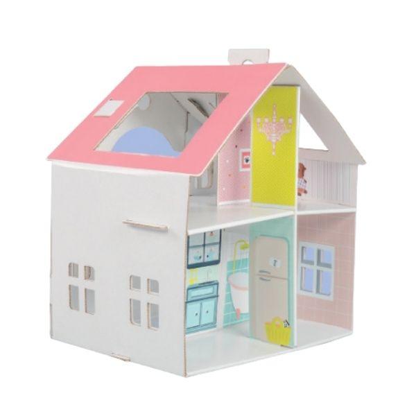 Kartonový domeček pro panenky či barbíny