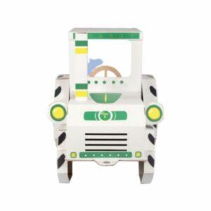 Traktor z kartonu k vymalování