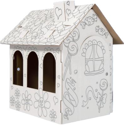 Domek pro panenky k domalování