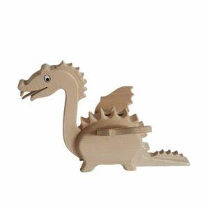 Dřevěná pokladnička - drak
