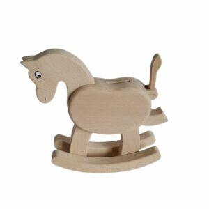 Dřevěná pokladnička - kůň