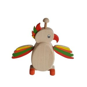 Dřevěná pokladnička - papoušek