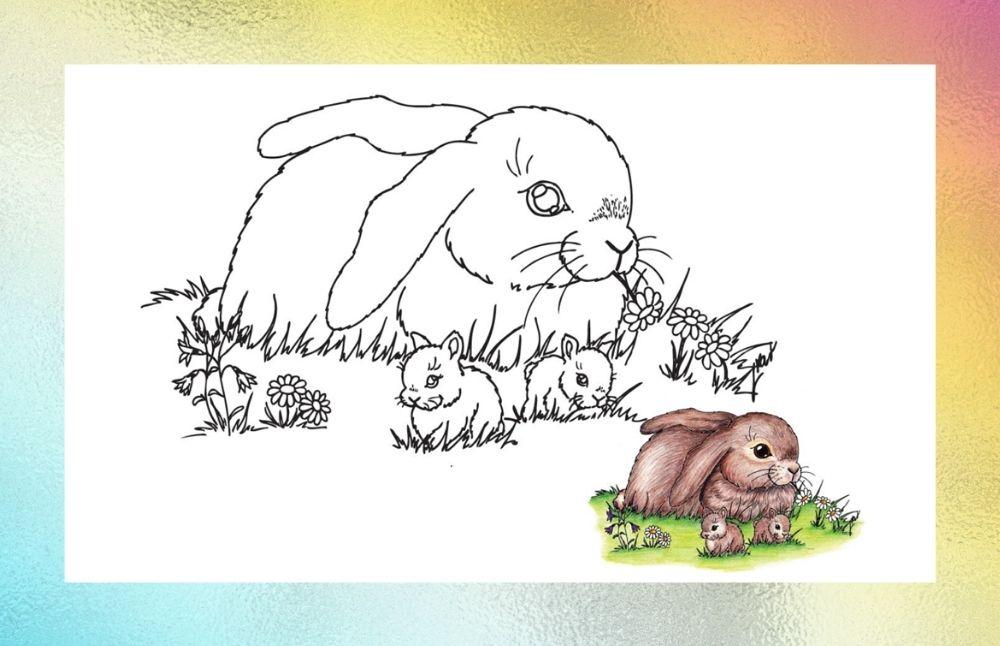Banner - omalovánky pro děti - zajíček