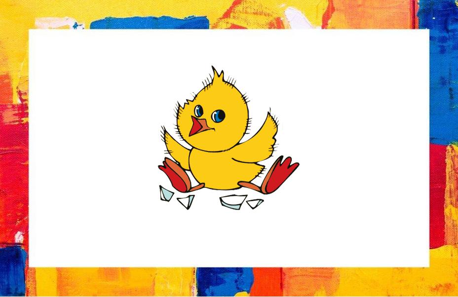 Šablona - jaro - kuřátka