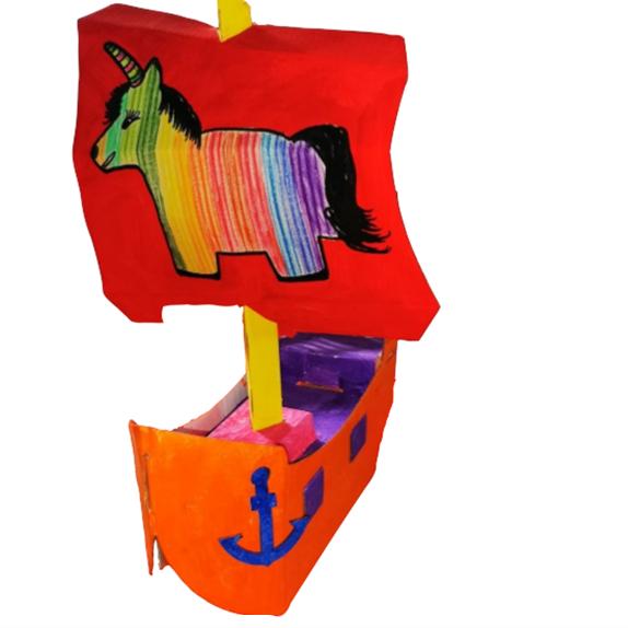 Pirátská loď z kartonu - výtvarka pro děti